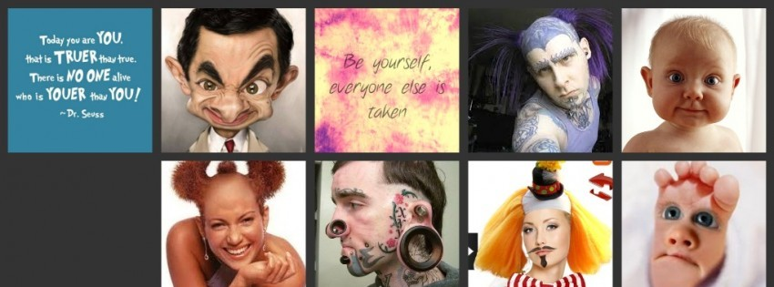Be Yourself Timeline cover - Facebook timeline covers maker