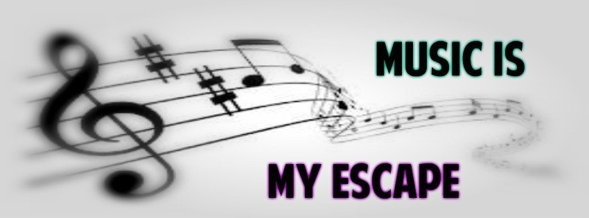 Music is Escape Timeline Cover - Facebook timeline covers maker