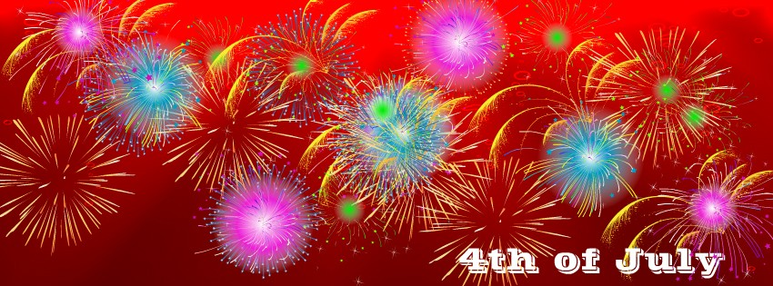 Fireworks 4th of July Timeline cover - Facebook timeline covers maker