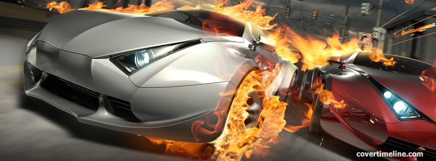 Hot cars timeline cover - Facebook timeline covers maker