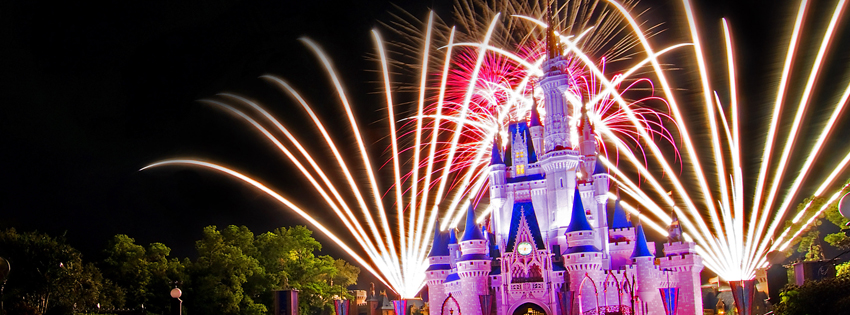 Firewors Disney Cover - Facebook timeline covers maker