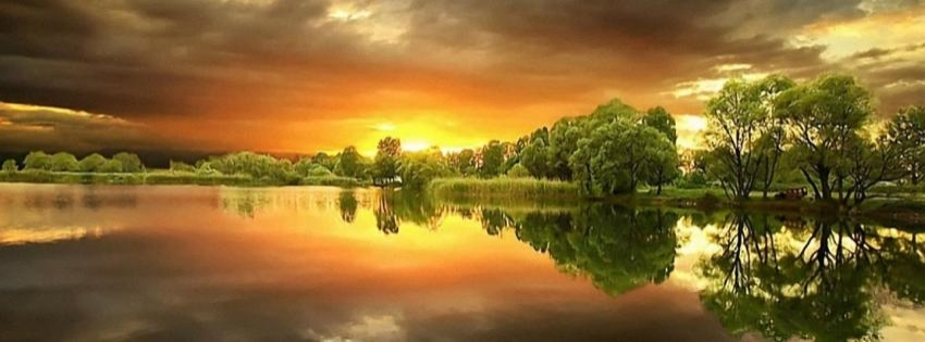 Beautiful Lake sunset timeline cover - Facebook timeline covers maker