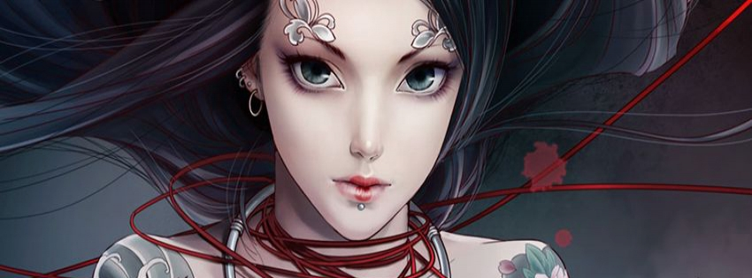Beautiful Face with Tattoos Anime cover - Facebook timeline covers maker