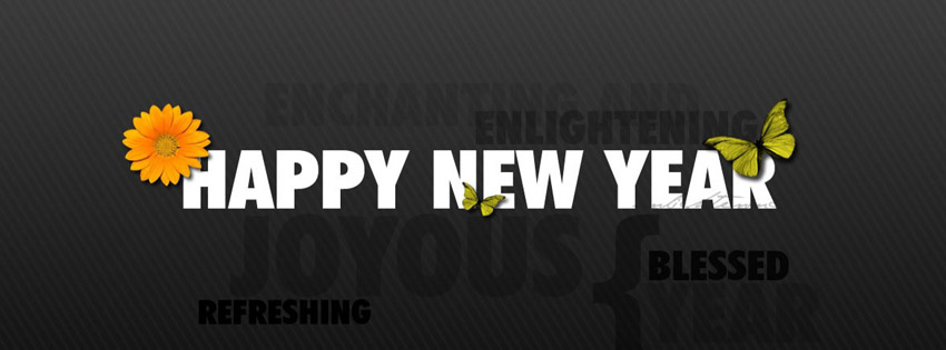 Happy New Year Timeline cover - Facebook timeline covers maker