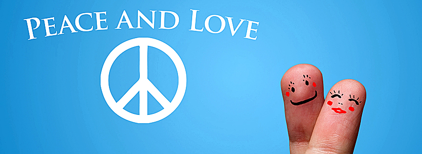 Peace & Love Timeline over - Facebook timeline covers maker